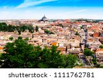 panoramic view of toledo in... | Shutterstock . vector #1111762781