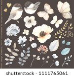 collection floral design... | Shutterstock .eps vector #1111765061
