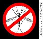 mosquito silhouette illustration | Shutterstock . vector #1111765745