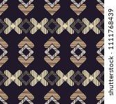 ethnic boho seamless pattern.... | Shutterstock .eps vector #1111768439