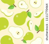pear seamless pattern for... | Shutterstock .eps vector #1111770464
