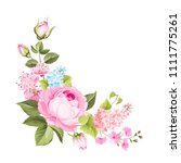 spring flowers bouquet of color ... | Shutterstock .eps vector #1111775261
