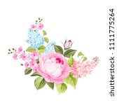 spring flowers bouquet of color ... | Shutterstock .eps vector #1111775264