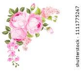 blooming spring flowers garland ... | Shutterstock .eps vector #1111775267