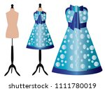 dresses on stands for dummies | Shutterstock .eps vector #1111780019