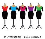 dresses on stands for dummies | Shutterstock .eps vector #1111780025