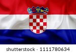 flag of croatia | Shutterstock . vector #1111780634