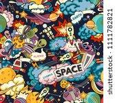 cosmos vector background.... | Shutterstock .eps vector #1111782821