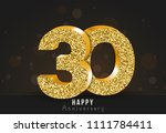 30   year happy anniversary... | Shutterstock .eps vector #1111784411