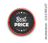 red colored best price circle... | Shutterstock .eps vector #1111785137