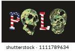 polo skull graphic design... | Shutterstock .eps vector #1111789634
