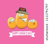 happy fathers day greeting card ... | Shutterstock .eps vector #1111791797