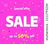 pink banner template design ... | Shutterstock .eps vector #1111793234