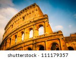 Colosseum At Sunset In Rome ...