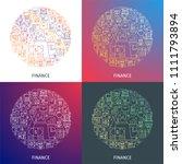 finance concept. design... | Shutterstock .eps vector #1111793894