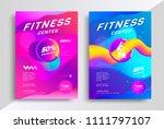 fitness center flyer or poster...   Shutterstock .eps vector #1111797107
