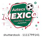 speech bubble mexico with icon... | Shutterstock .eps vector #1111799141