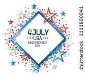 fourth of july background with...   Shutterstock .eps vector #1111800041