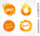 orange juice label splash set... | Shutterstock .eps vector #1111801574