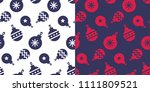 simple classic xmas seamless...   Shutterstock .eps vector #1111809521