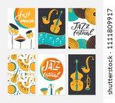 vector set of jazz festival... | Shutterstock .eps vector #1111809917