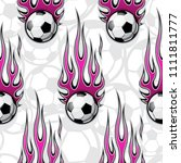 seamless pattern with football...   Shutterstock .eps vector #1111811777