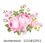 spring flowers bouquet of color ... | Shutterstock .eps vector #1111812911