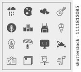 modern  simple vector icon set... | Shutterstock .eps vector #1111813085
