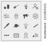 modern  simple vector icon set... | Shutterstock .eps vector #1111813121