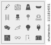 modern  simple vector icon set... | Shutterstock .eps vector #1111814051