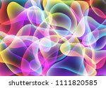 colorful fluid vibrant abstract ... | Shutterstock .eps vector #1111820585