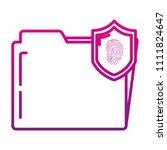 degraded line folder file with... | Shutterstock .eps vector #1111824647