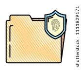 doodle folder file with tactile ... | Shutterstock .eps vector #1111829171
