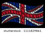 waving united kingdom flag on a ...
