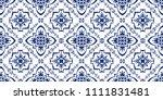 talavera pattern.  azulejos... | Shutterstock .eps vector #1111831481