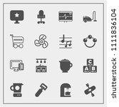 modern  simple vector icon set... | Shutterstock .eps vector #1111836104