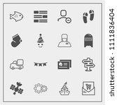 modern  simple vector icon set...   Shutterstock .eps vector #1111836404
