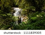 Small photo of Beautiful landscape taken during trekking to Robinson Falls in Cameron Highlands mountains in national park in Malaysia. Travelling across south east Asia.