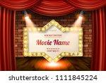 golden frame in cinematic style ... | Shutterstock .eps vector #1111845224