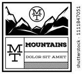 mountain vintage logo template...   Shutterstock .eps vector #1111847051