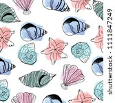 shells. beautiful and bright... | Shutterstock .eps vector #1111847249