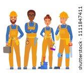 professional construction... | Shutterstock .eps vector #1111847411