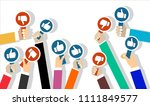 group of business people with... | Shutterstock .eps vector #1111849577