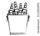 grunge liquor bottles inside... | Shutterstock .eps vector #1111852091