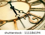 classic clock with moving... | Shutterstock . vector #111186194