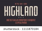 highland vector condensed bold... | Shutterstock .eps vector #1111870184