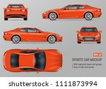 sports car vector mockup.... | Shutterstock .eps vector #1111873994