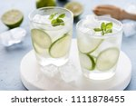 healthy lemonade lime with... | Shutterstock . vector #1111878455