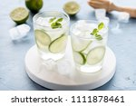 healthy lemonade lime with... | Shutterstock . vector #1111878461