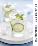 healthy lemonade lime with... | Shutterstock . vector #1111878485